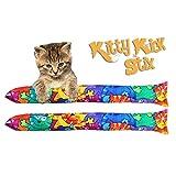 """15"""" Original Kitty Kick Stix Catnip Kicker (Set of 2) (Happy Cat)"""