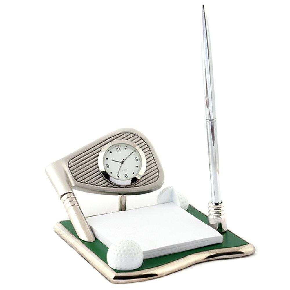 ミニチュアクロックコレクション(MiniatureClockCollection)ミニチュア置時計 ゴルフ メモ ボールペン C3303 B0781VY7H4