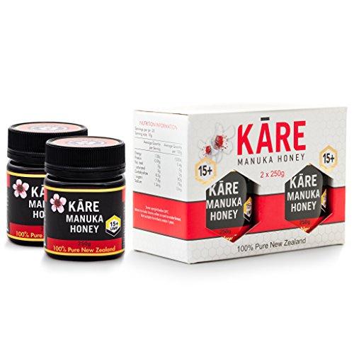 KARE Manuka Honey, Certified UMF 20+ (8.8 oz, 2 Pack) 100% Pure, Raw & Unpasteurized Premium Grade New Zealand Manuka Honey, Twin Gift Box, MGO 830+