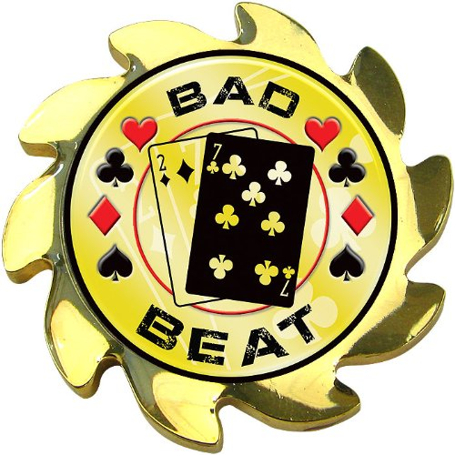 Bad Beat Gold Shadow Spinner Card Cover - Includes Bonus Cut (Bad Beat Poker)