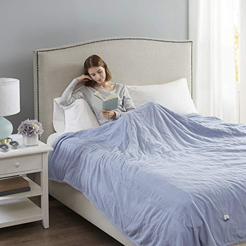 Beautyrest Soft Microfleece Electric Heated Blanket, Twin, Blue