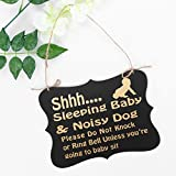 WINOMO Shhh Sleeping Baby Door Sign Do Not Disturb