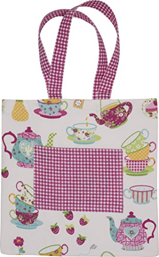 Handstand Kitchen Child's 100% Cotton 'Spring Tea Party' Book Tote Bag