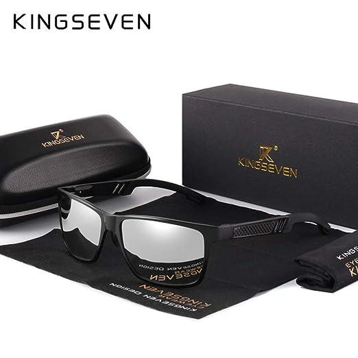 Yangjing-hl Gafas de Sol cuadradas de Aluminio para Hombres ...