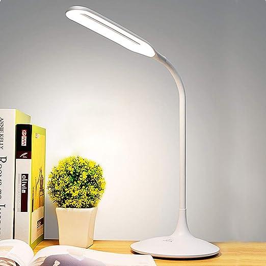 Lámpara De Mesa De Escritorio Regulable Con LED De 5W Con Puerto ...