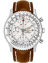 Navitimer World Silver Dial 46mm Men's Watch A2432212/G571-443X
