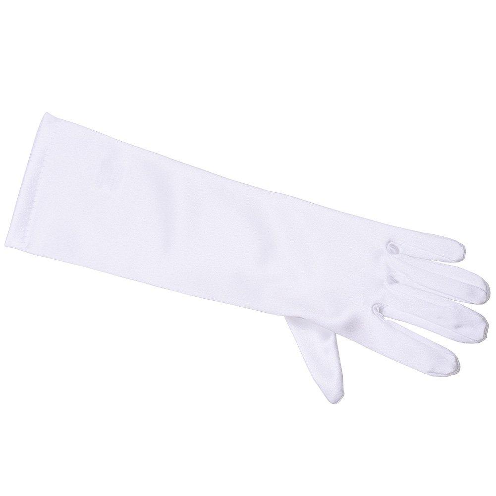 Angels Garment Big Girls White Medium Length Flower Girl Communion Gloves 8/12