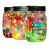 Quaant Solar LED Light,LED Fairy Light Solar For Mason Jar Lid Insert Color Changing Garden Decor (Multicolor)