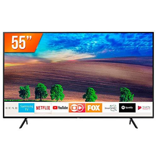 """Smart TV UHD 4K 55"""" UN55RU7100, Visual com Cabos Escondidos, Controle Remoto Único e Bluetooth"""