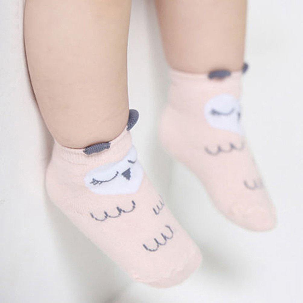 Meiyuan Newborn Baby Boys Girls Cute Cartoon Animals Anti-slip Cotton Socks 0-24M