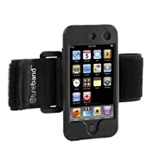 Tuneband for iPod touch 4th Generation (Model A1367, 8GB/16GB/32GB/64GB), Grantwood Technology's Armband, Silicone Skin, and Screen Protector, BLACK