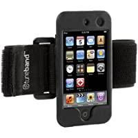 Tuneband for iPod touch 4th Generation (Model A1367, 8GB/16GB/32GB/64GB), Grantwood Technologys Armband, Silicone Skin, and Screen Protector, BLACK