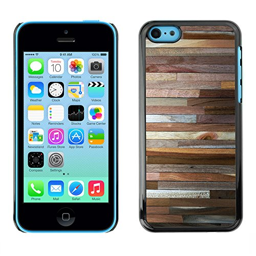 Hülle Case Schutzhülle Cover Premium Case // V00002424 Holzwand // Apple iPhone 5C