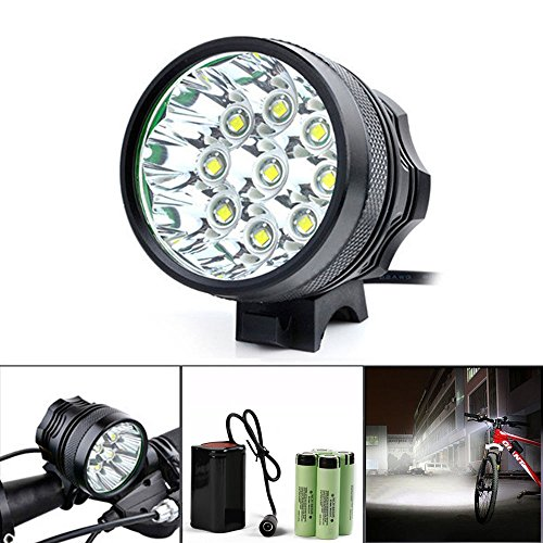 Creazy 20000LM 9 x CREE XM-L T6 LED 8 x 18650 Bicycle Cycling Light Waterproof Lamp