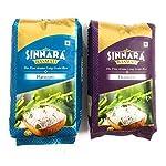 "SINNARA Platinum and Diamond Basmati Rice Combo, 1kg Each, ""1121″ Long Grain Rice"