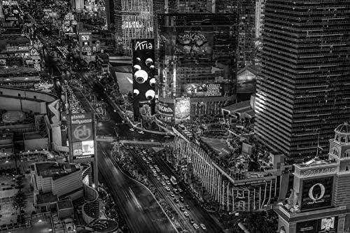 ラスベガスの通りの壁紙-世界の壁紙-#47390 - 白黒の キャンバス ステッカー 印刷 壁紙ポスター はがせるシール式 写真 特大 絵画 壁飾り105cmx70cm