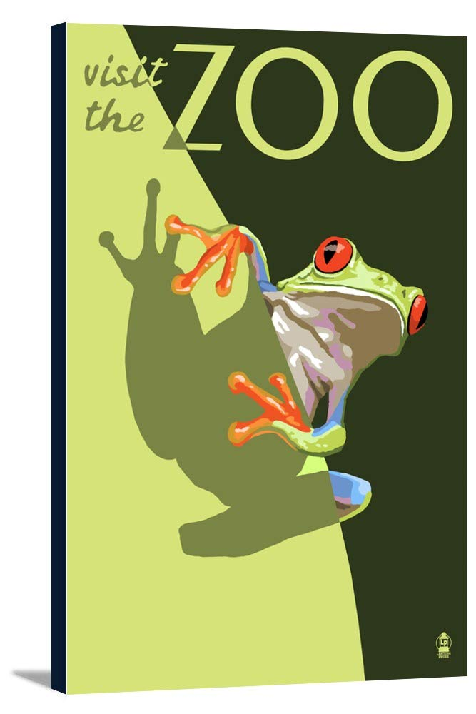 Tree Frog – Visit the動物園 24 x 36 Gallery Canvas LANT-3P-SC-25518-24x36 24 x 36 Gallery Canvas  B0184AKWUK