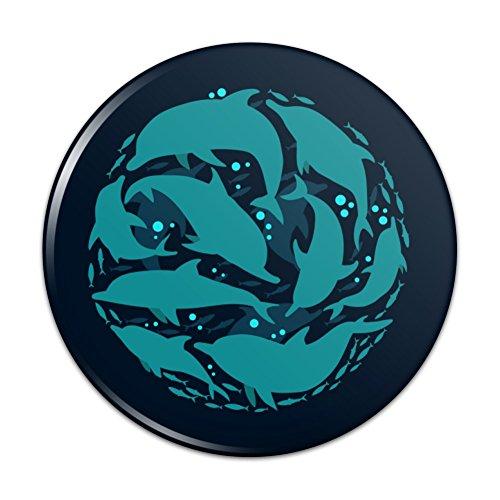 Mirror Sardine - Dolphin Circle Sardines Ocean Fish Compact Pocket Purse Hand Cosmetic Makeup Mirror - 3