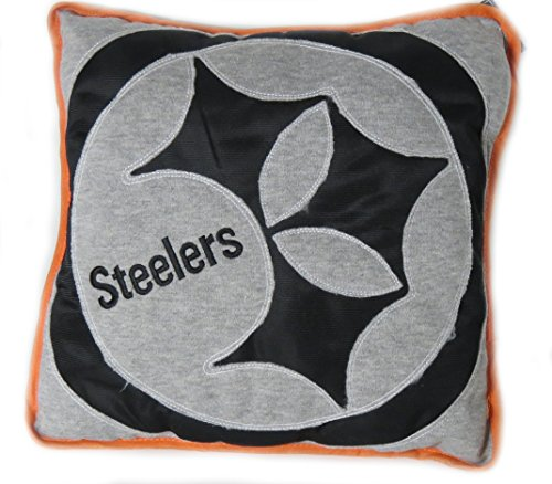 Pittsburgh Steelers Big Logo Applique Pillow