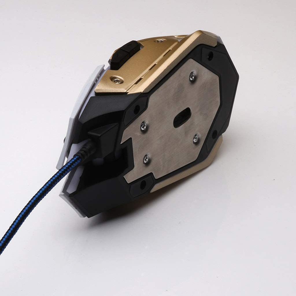 Color : Metallic L125mm /× W74mm /× H35mm ka 2-Color Mouse Wired Computer Mouse Mute and Smooth USB Port Feels Comfortable Suitable for PC//Tablet//Laptop
