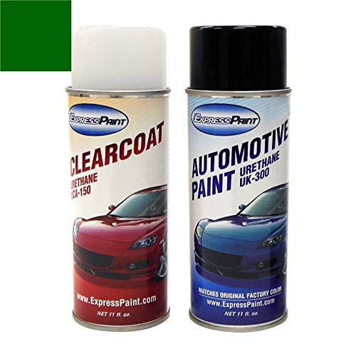 ExpressPaint Aerosol - Automotive Touch-up Paint for Subaru Legacy - Timberline Green Pearl Clearcoat 83N - Color + Clearcoat Package