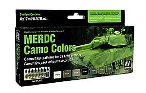 us army vehicles merdc camo colors model air paint set 8 colors - Camo Paint Colors