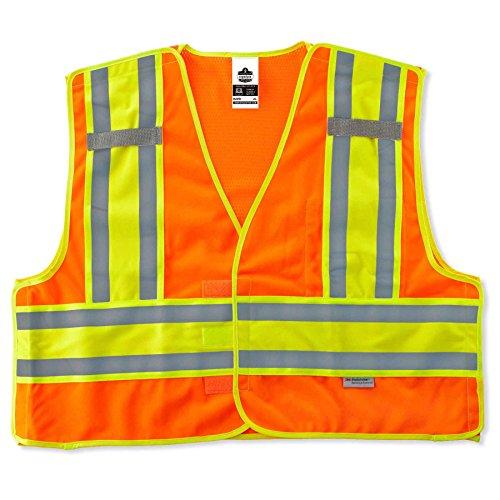 (Ergodyne - 8245PSV 4XL/5XL Orange Public Safety Vest )