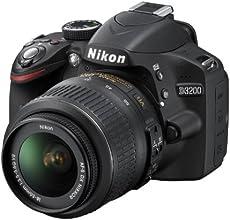 """Nikon D3200 - Cámara réflex digital de 24.2 Mp (pantalla 3"""", estabilizador óptico), negro - kit con objetivo AF-S DX 18-55mm f/3.5 VR"""