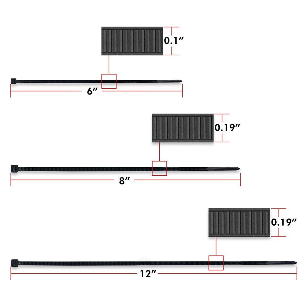 100, 6inch Cable Ties
