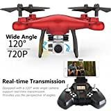 Dreamyth SMRC S10W-G 6 Axis Gyro Altitude Hold 120°Angle Quadcopter Drone 720P Camera Helicopter (Red)