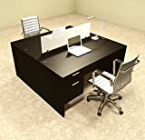 Two Person Modern Divider Office Workstation Desk Set, #OT-SUL-FP16
