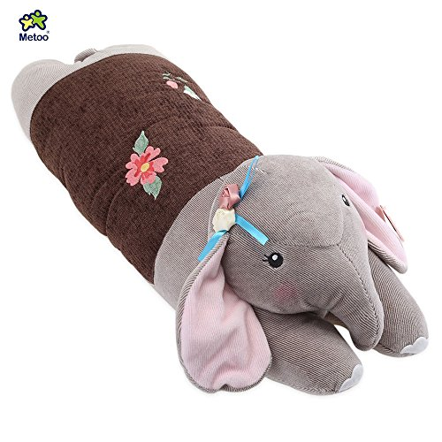 YOOYOO Metoo Stuffed Elephant Plush Doll Toy Cushion Pillow Christmas Gift (Coffee) (Girls Red Sequin Shoe Covers)