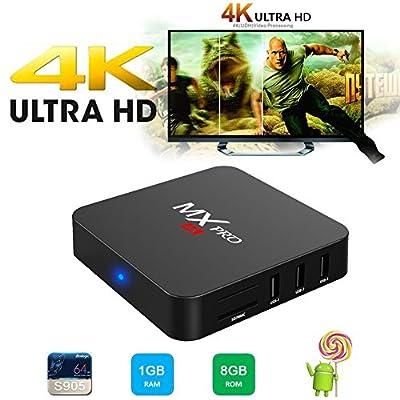 Greatever BB2 4K TV BOX Amlogic S912 64 bit Octa core Android6.0 Marshmallow 2GB RAM 16GB ROM 4K UHD H.265 HEVC 2.4G/5G WiFi Bluetooth4.0 1000M Ethernt 1080P with Metal Shell Streaming Media Player