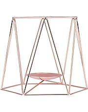 Zariavo Store - Portavelas geométrico de Hierro Forjado, Ideal para el día de San Valentín