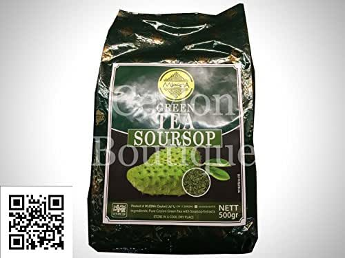 Mlesna Natural Flavored Soursop Ceylon Green Tea 500g