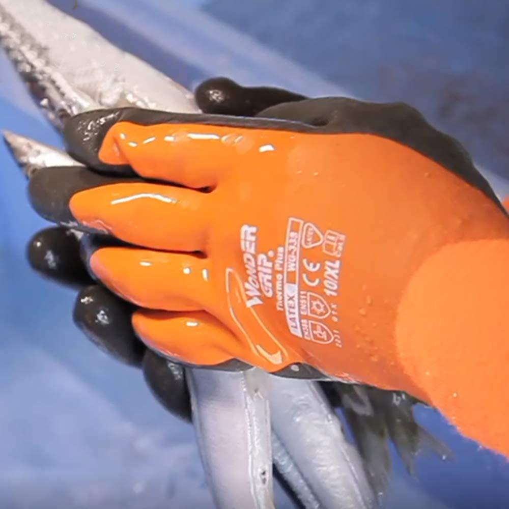 Festnight Wonder Grip WG-338 Thermo Plus Guantes de trabajo resistentes al fr/ío Doble capa L/átex Protecci/ón recubierta Guantes de jard/ín Grandes