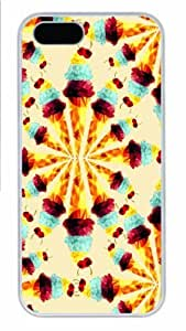 Hot iPhone 5S Customized Unique Print Design Polygon Icecream New Fashion PC White iPhone 5/5S Cases