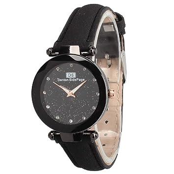 a3ff1b1a0c24 1 reloj de cuarzo para mujer con esfera de cristal y luz de estrella ...