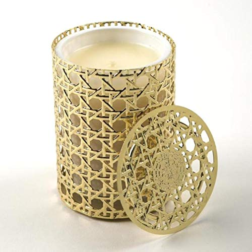 (Lux Fragrance Classics - Amber d'Lux - 08 oz. - Gold Caning Candle)