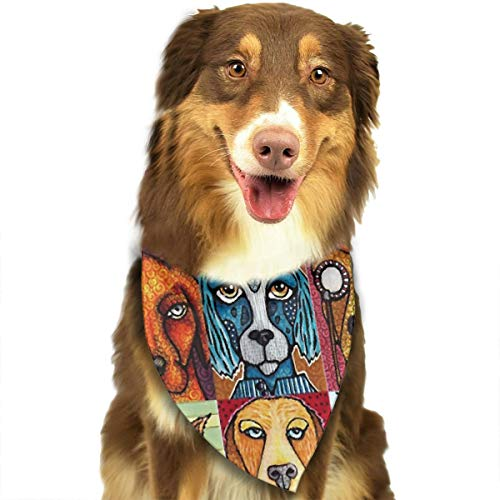 OURFASHION Cool Pop Art Dog Bandana Triangle Bibs Scarfs Accessories for Pet Cats and Puppies]()
