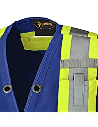 Pioneer V1010180-XL Hi-Viz Surveyor's Safety Vest, Royal, XL
