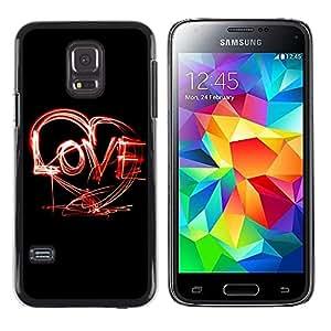 iKiki Tech / Estuche rígido - Creative LOVE - Samsung Galaxy S5 Mini, SM-G800, NOT S5 REGULAR!