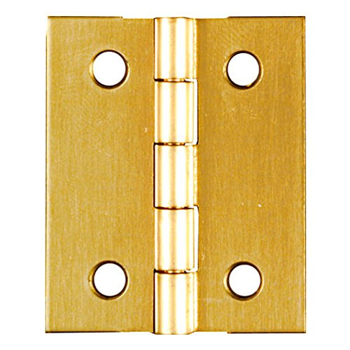 Stanley Solid Brass Miniature Broad Hinge, 1-1/2
