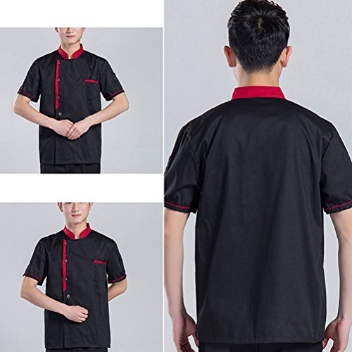 Zhuhaitf 3 calidad Clothes Sleeve Classic Colors Chef Work Uniform Unisex Simplicity Alta Long Black rr1wf