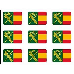 Artimagen Pegatina rectángulos Bandera con Logo Guardia Civil 9 uds. 16x11 mm/ud. 6