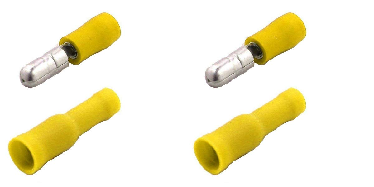 Electronics and Hobby Insulated/ Shentian Terminal x 100/Yellow Bullet Connector Yellow x50//X50//Crimp Connectors /For Car