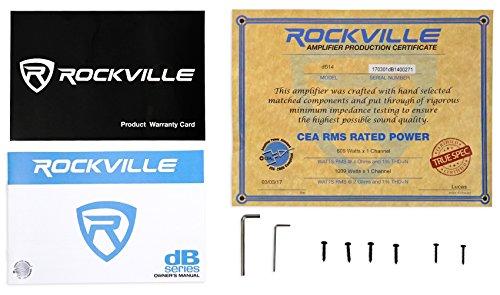 Rockville dB14 4000 Watt/2000w RMS Mono Class D 2 Ohm Amplifier Car Audio Amp by Rockville (Image #6)