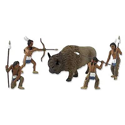 Scene-A-Rama SP4344 Scene Setters Diorama Kit, Native American Hunt Mini-Figures, Multicolor: Home & Kitchen