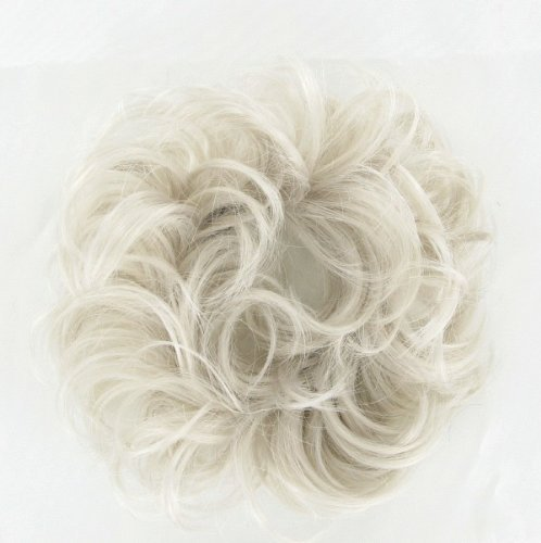 WIG UNIVERS Hair Extension Scrunchie 17 In White -