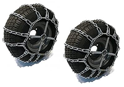 The ROP Shop 2 Link TIRE Chains & TENSIONERS 20x10x8 for John Deere Lawn Mower Tractor Rider